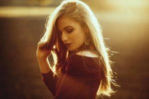 Sunset Portrait mit Katharina