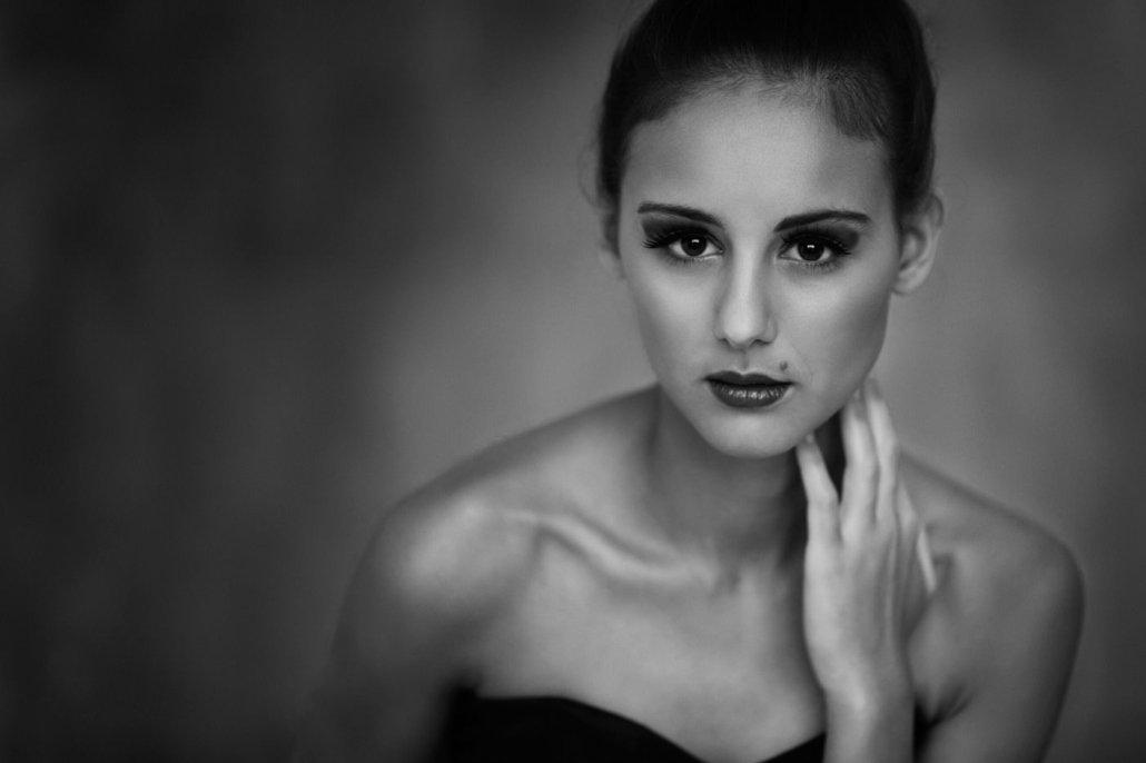 schwarz-weiß Portrait von Larissa