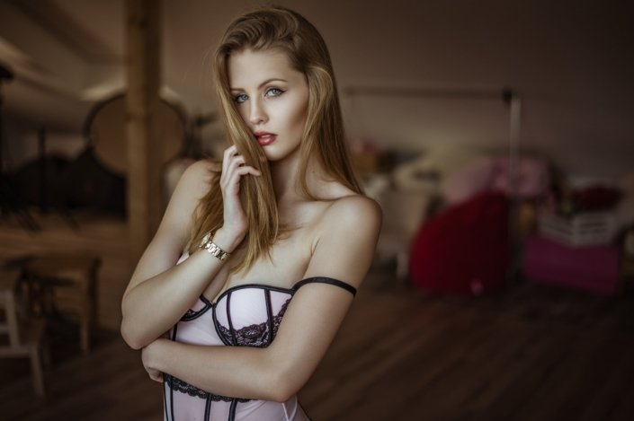 Indoor Sensual Portrait, Model Marie