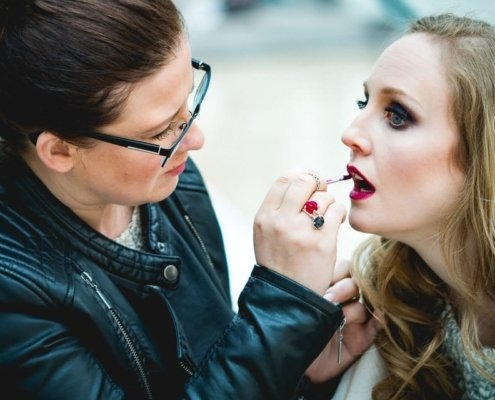 Make-up Artist Face Dresses mit Model Yaiza Hofmann