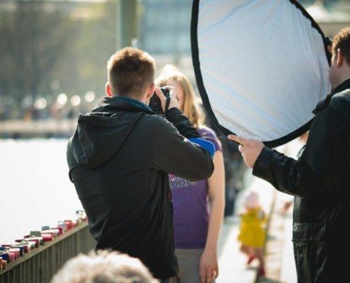 Outdoor Fotokurs mit Yaiza am Maschsee