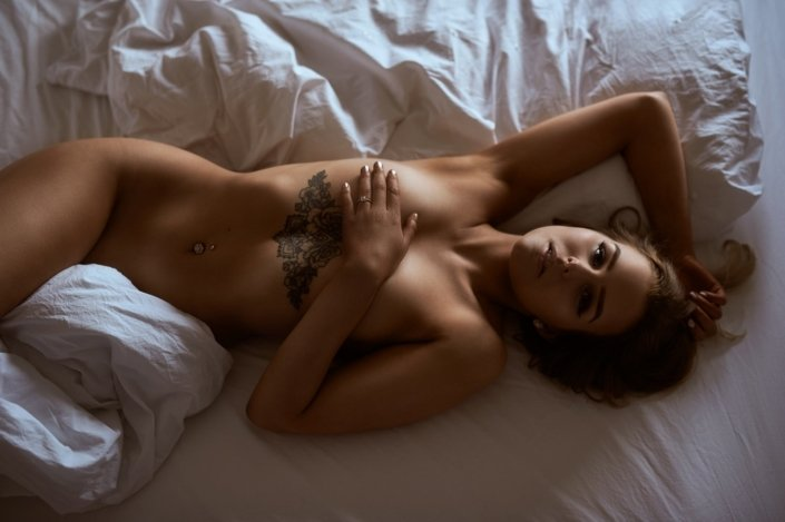 Boudoir im Bett, Model Birte