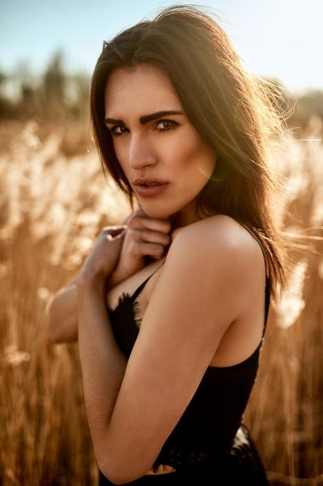 Frühling Outoor Portrait Model Josefine