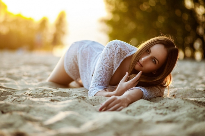 Beach Sunset mit Model Kati