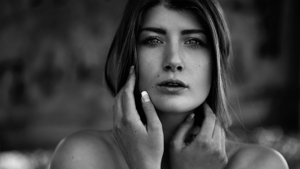Outdoor Portrait Lisa, schwarz/weiß