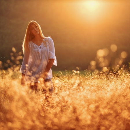 Sunset Portrait im Gegenlicht mit Model Lisa